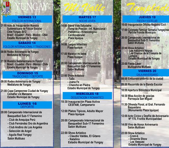 Programa Semana Yungayina